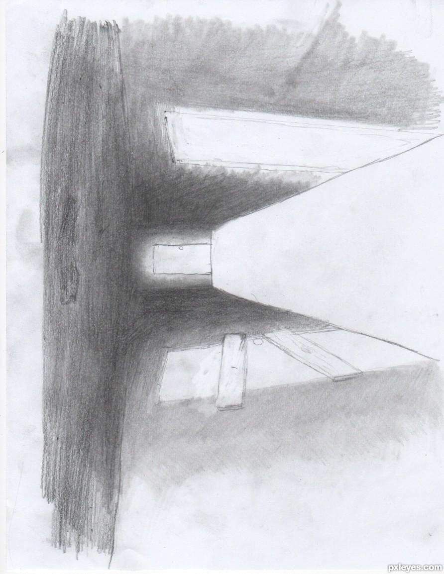 Drawing Guide The Making Of Dark Hallway Pxleyescom