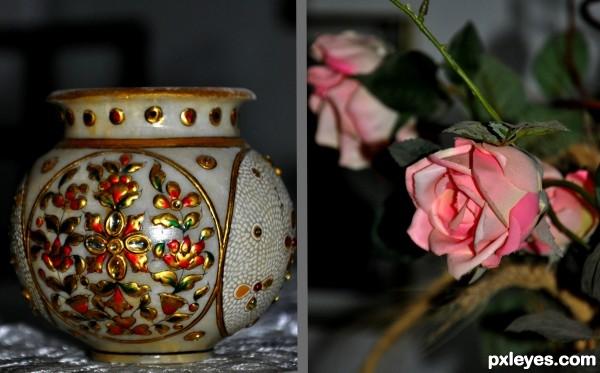 Flowers & Vase