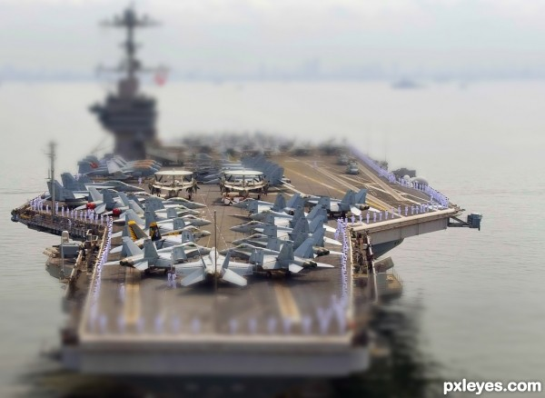 The aircraft carrier.