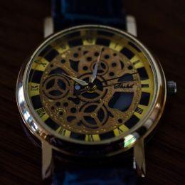 False cogwheels, real watch!