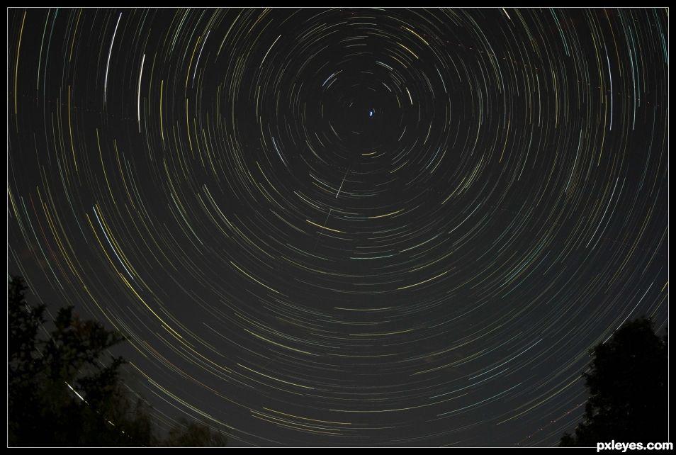 Star trails blend