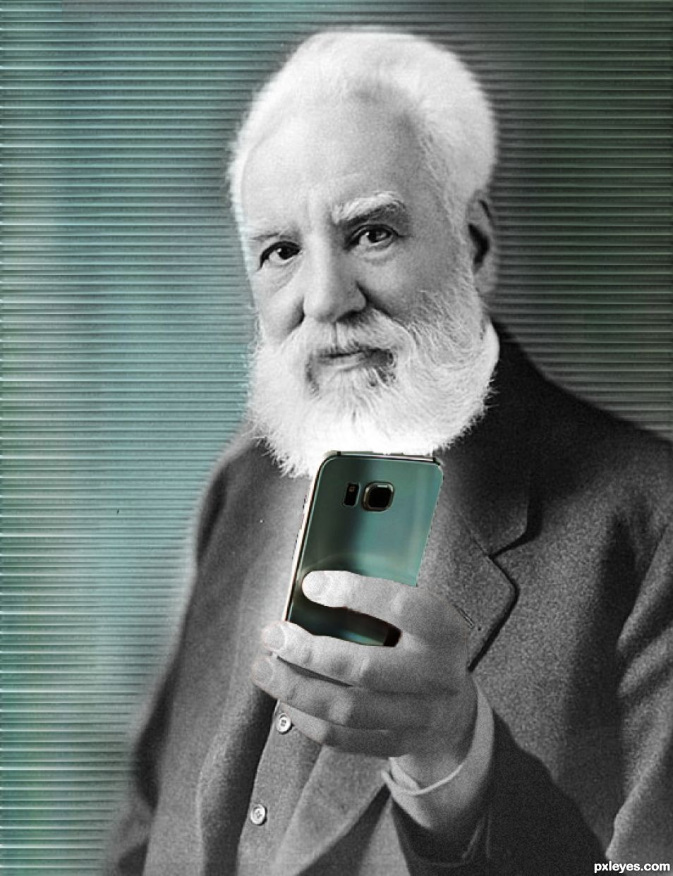 Graham Bell about to take a selfie