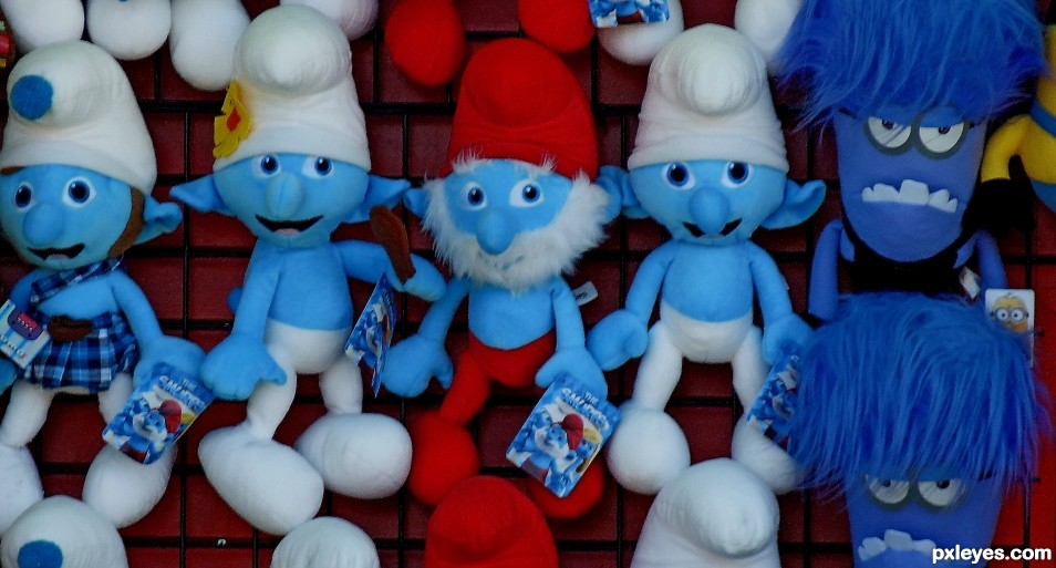 Hangin with Papa Smurf