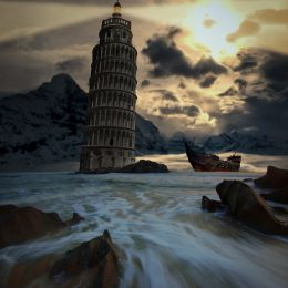The leaning lighthouse of Pizaza Picture