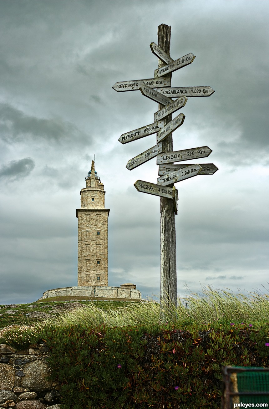 Tower of Hercules photoshop picture)