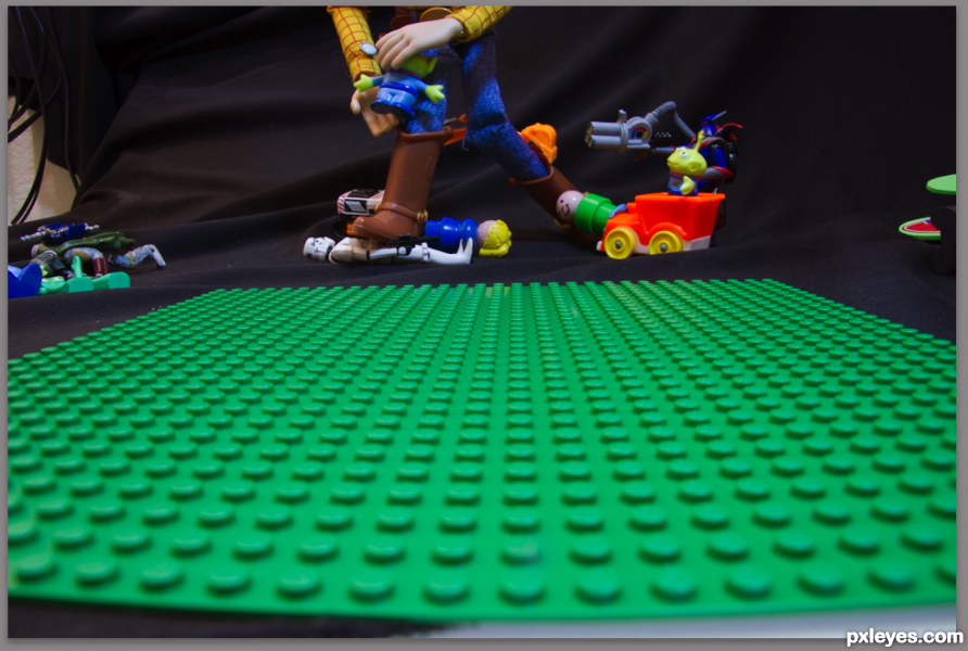 Creation of Woody vs The Little People: Step 8