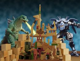 Monsters attack Toy Town Picture