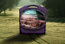 City in a Purple Box