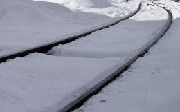 Snowy rail