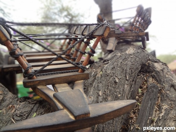 Cart on a tree