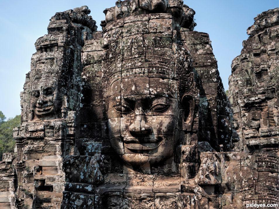 Lokesvara, Angkor Bayon, Cambodia