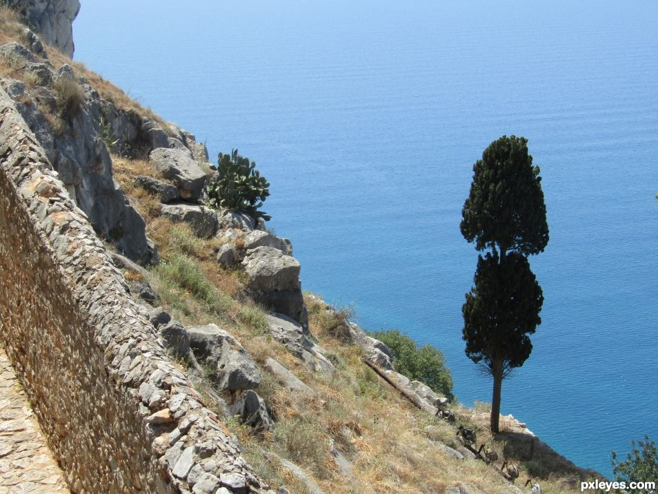 At the slopes of Nafplion castle