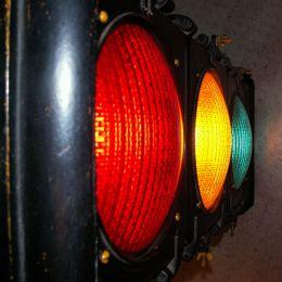 Oldtimeytraincrossinglight