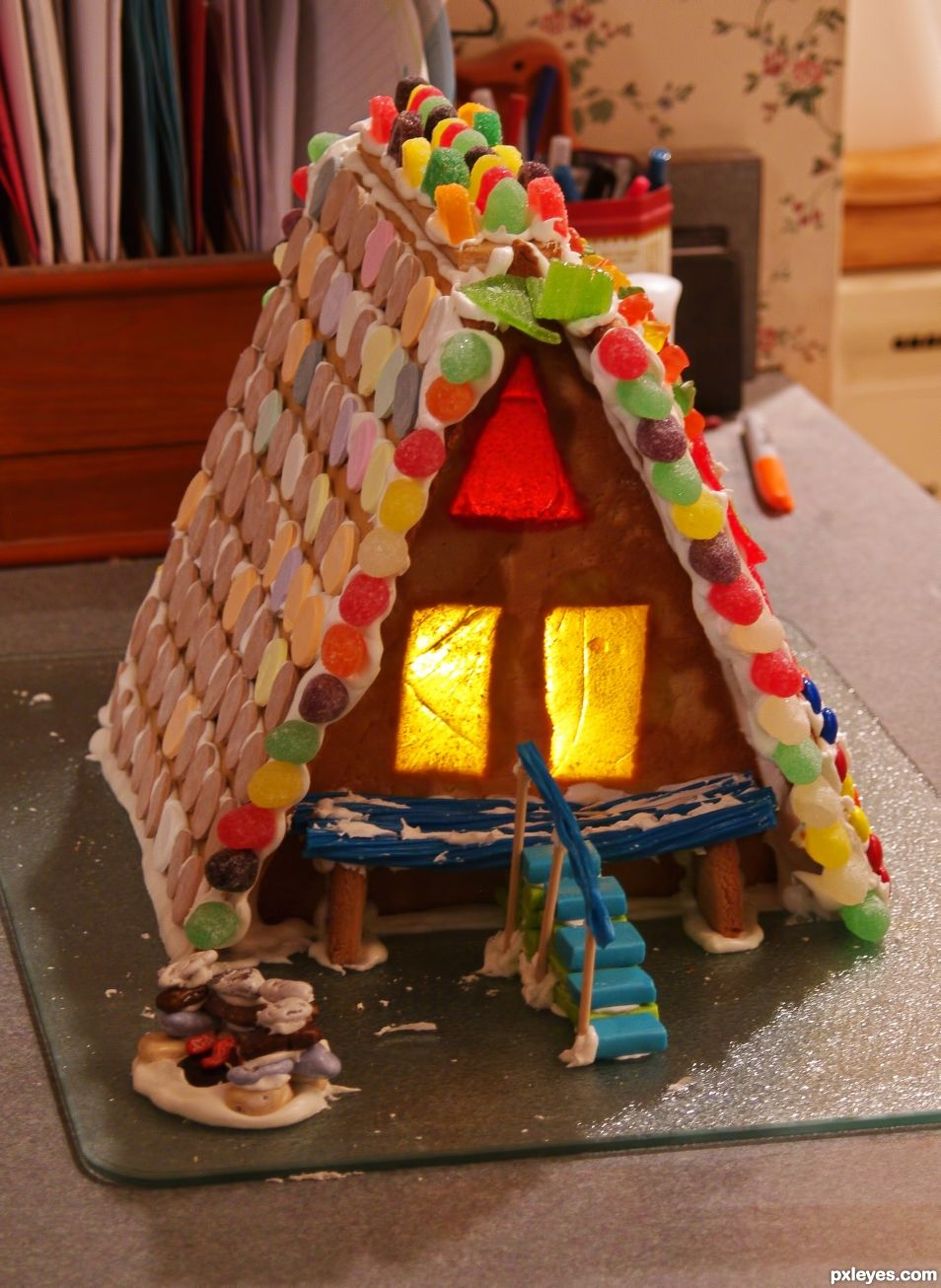 A Frame Gingerbread House