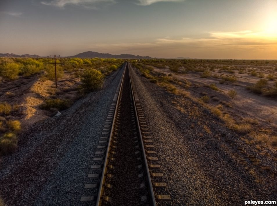 Train Tracks in the Desert