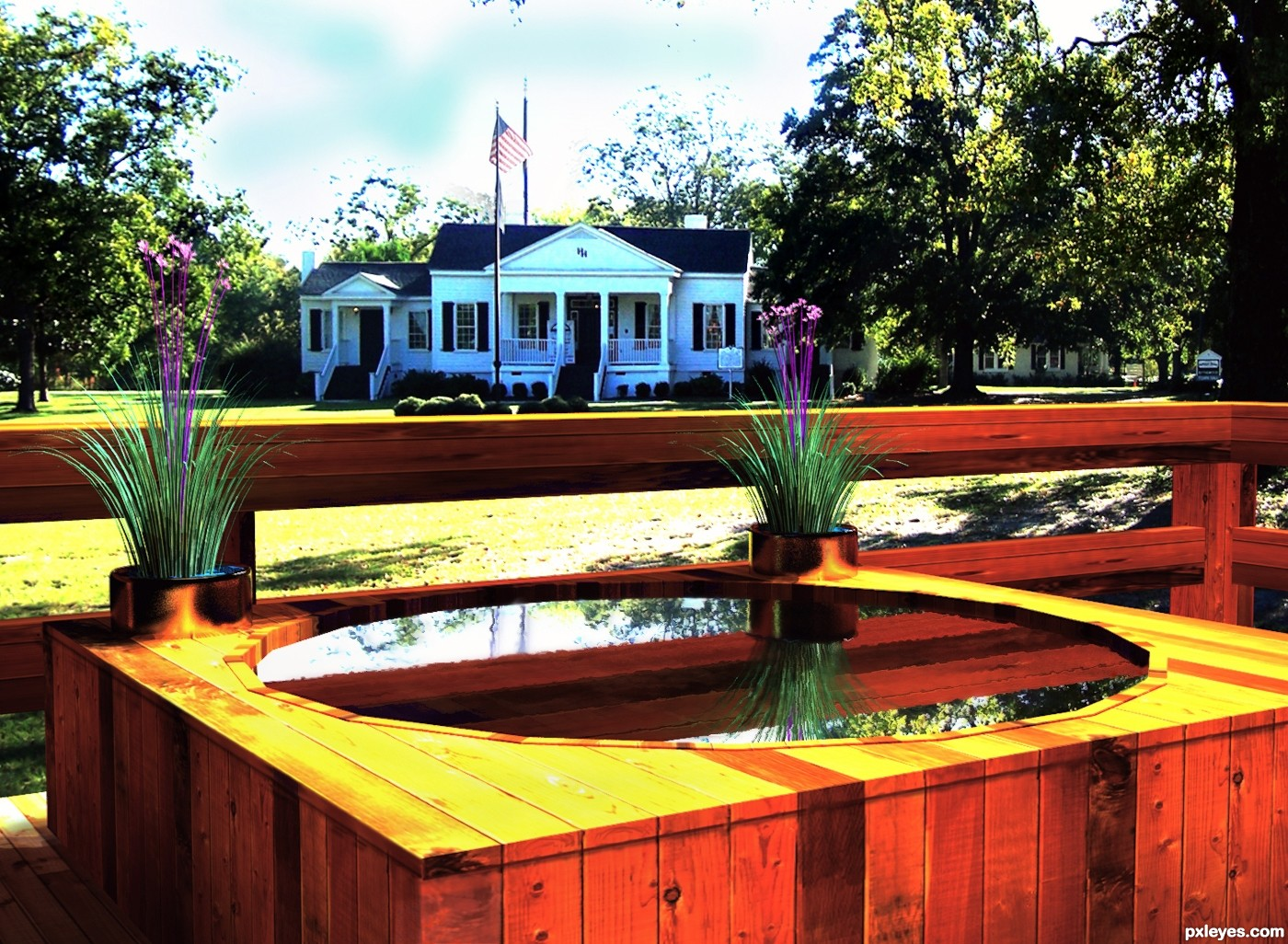 Cedar hot tub southern style picture by lchappell for for Hot tub styles