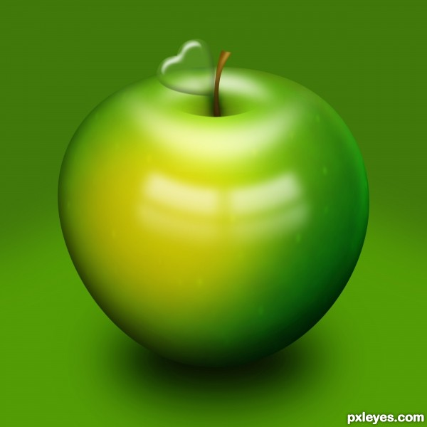 My Little Green Apple photoshop picture)