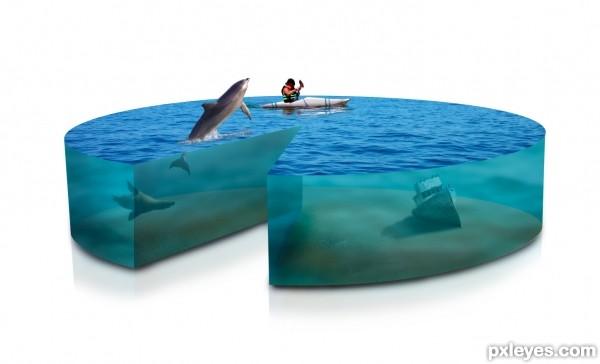 Pie chart photo manipulation