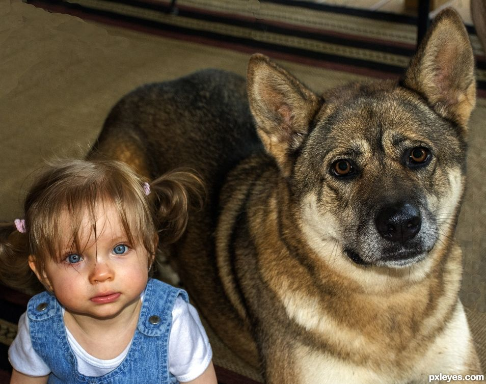Gianna with Scout