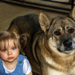 Gianna with Scout Picture