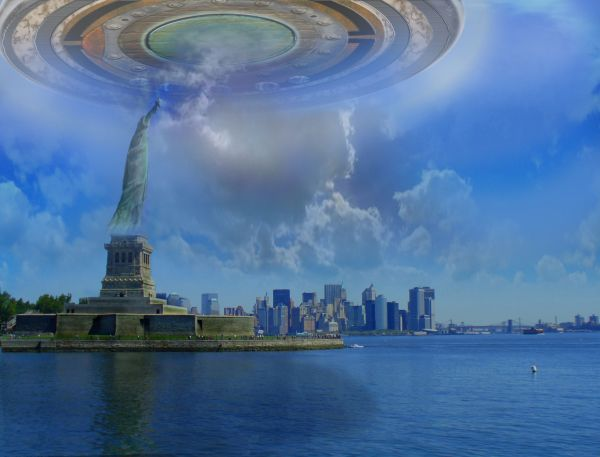 UFO over New York