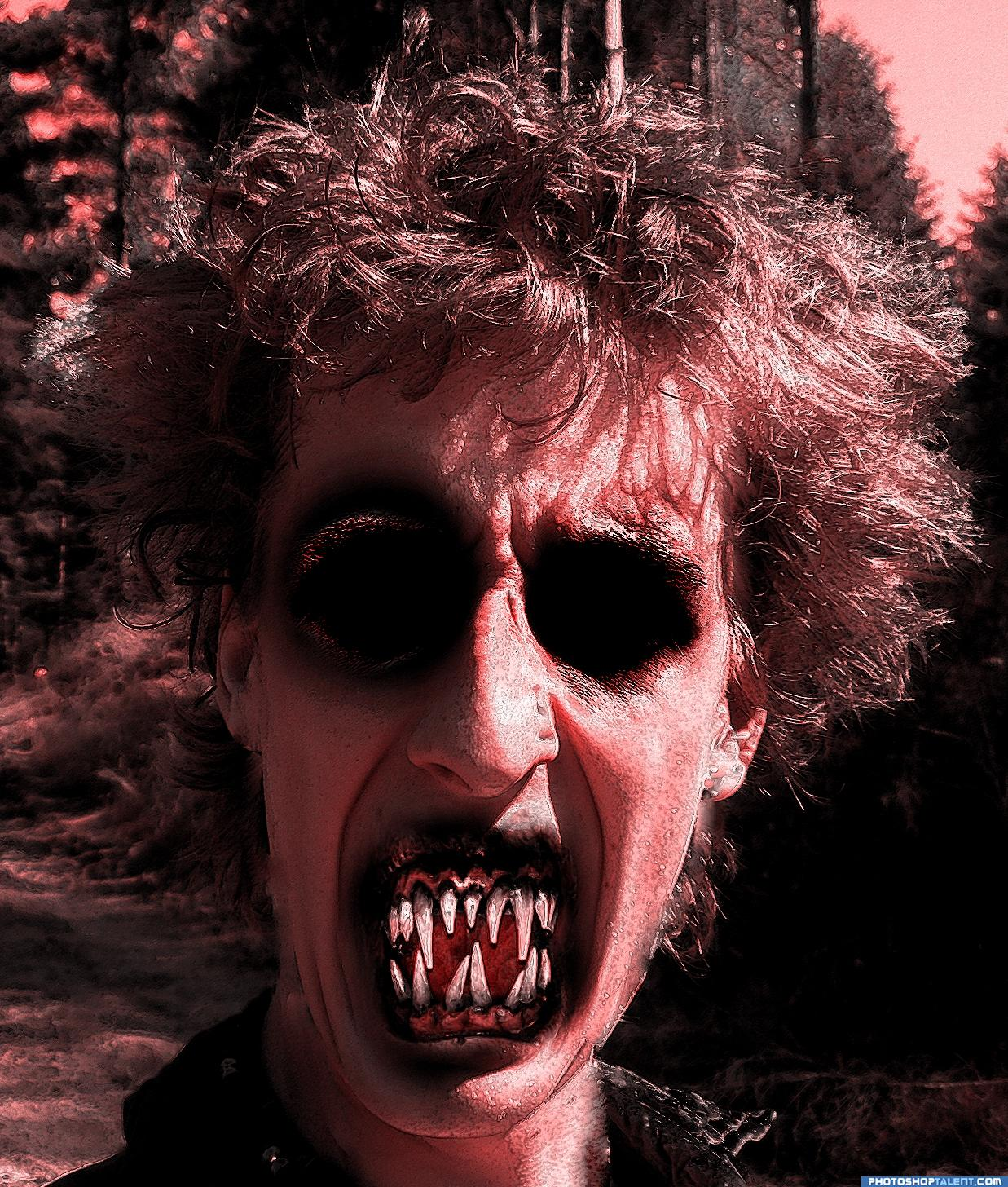 Demonic Me picture, by Ory for: ugly smile photoshop