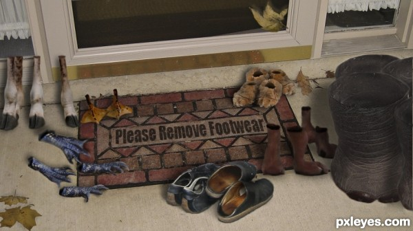 Creation of The Welcome Mat: Final Result