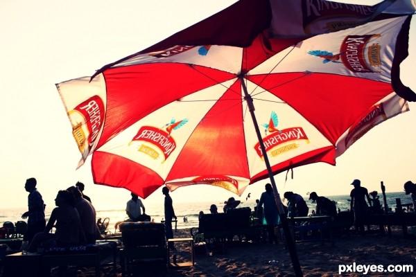 Sunny Sea Beach Umbrella