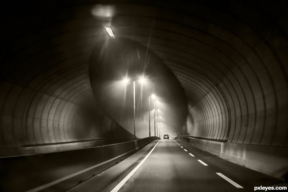 Misty tunnel