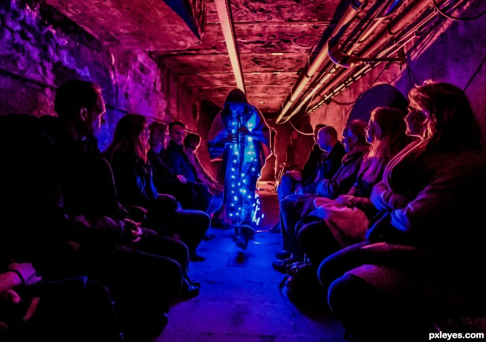 Performer in the tunnel