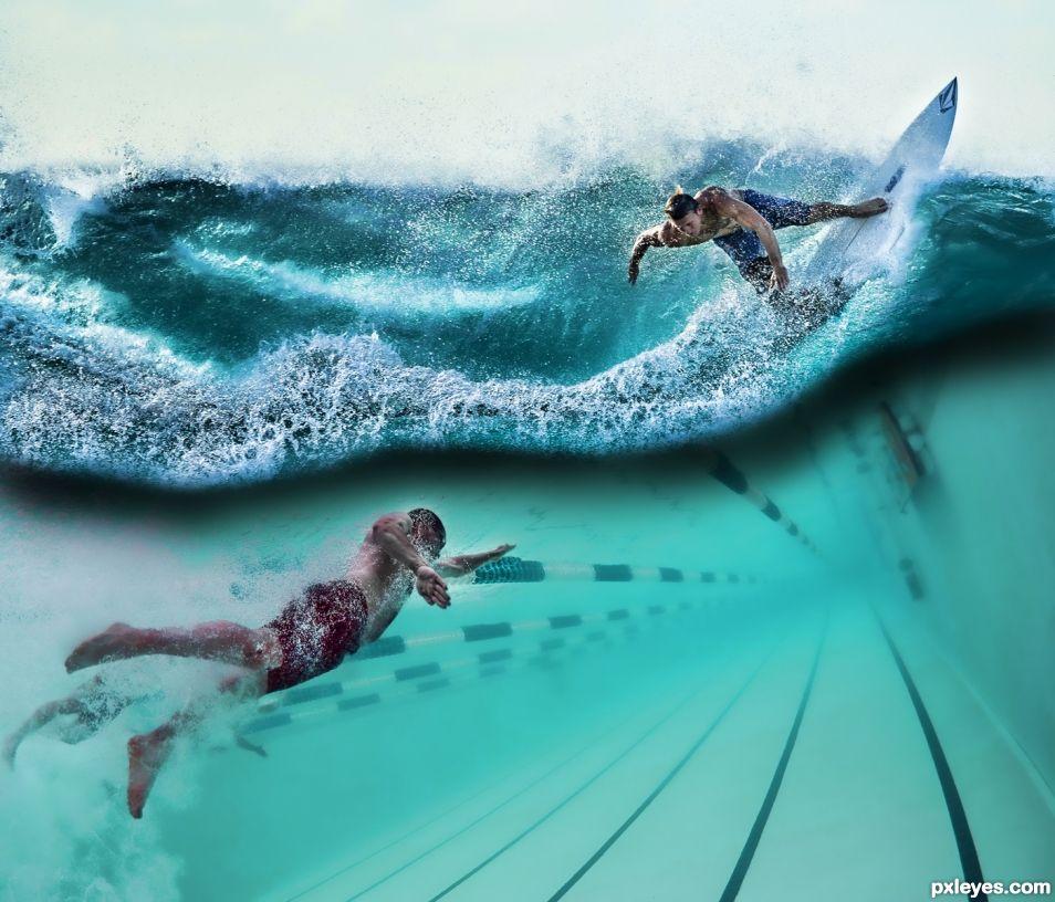 Swimmer Surfer