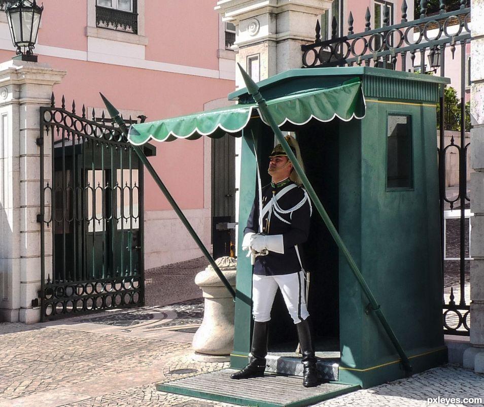 Guard, Belém palace