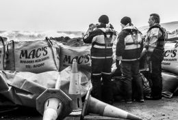 Coastguards watching for the high tide