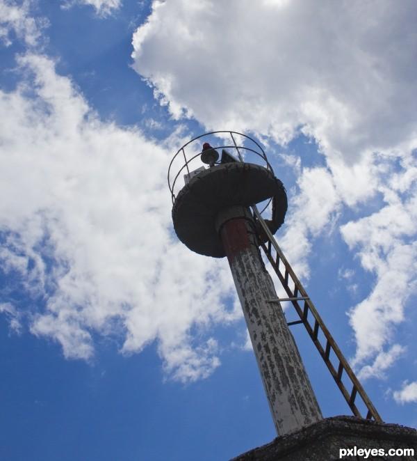 Decrepit lighthouse