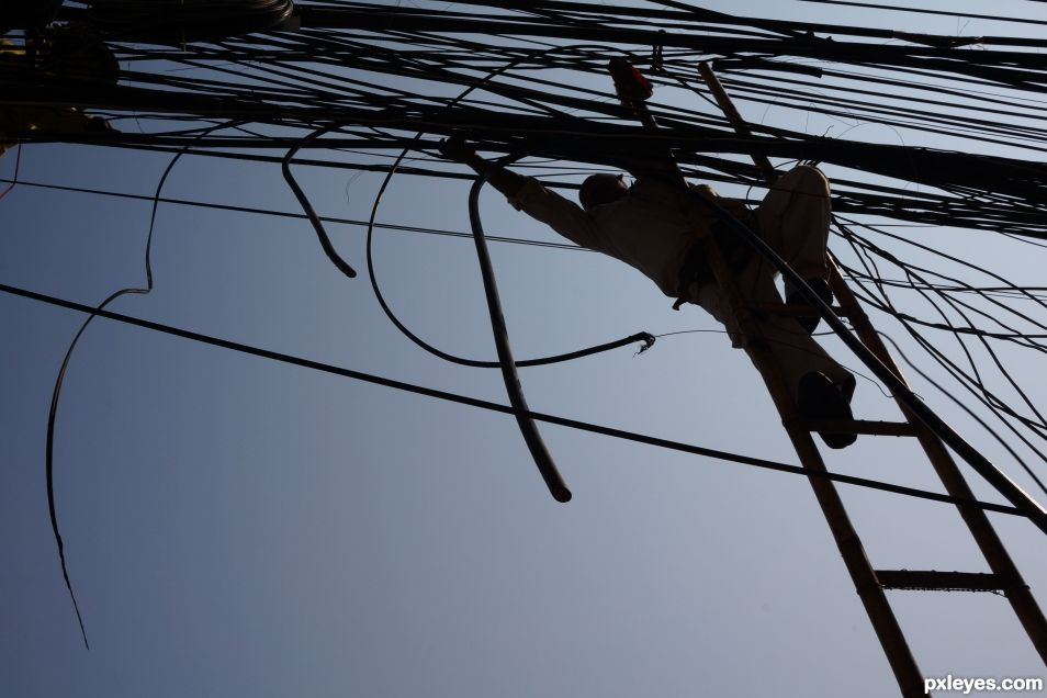 Up View - Wires