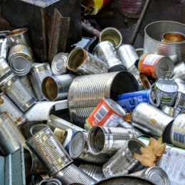 Used Food Cans Picture
