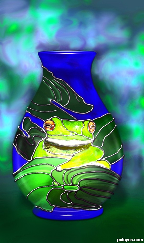 Moorcroft Frog Vase