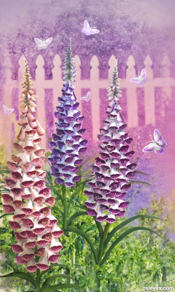 Foxgloves n Butterflies