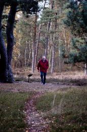 old man walking...