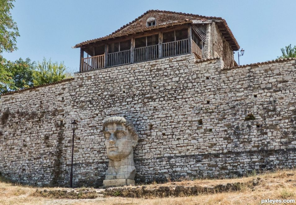 The wall of Constantine the Great, Berat