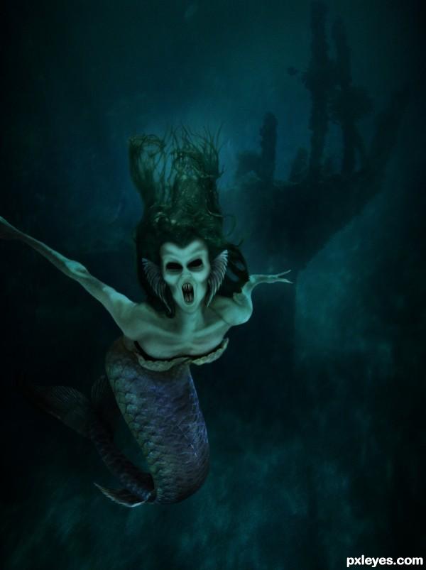 Evil Siren photoshop picture