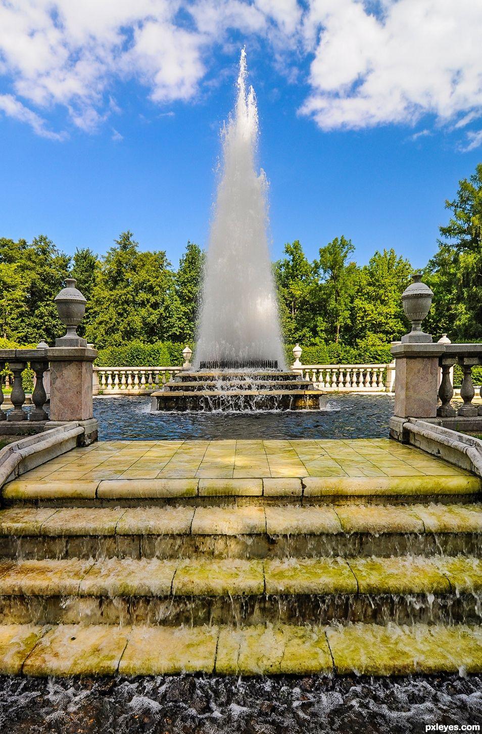 Fountain in Petergof,  Saint Petersburg