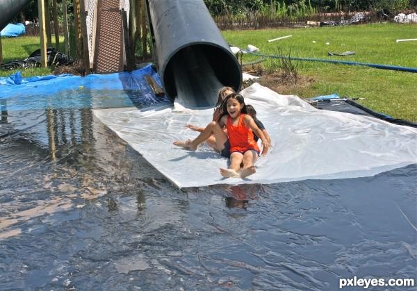 Redneck Water Slide