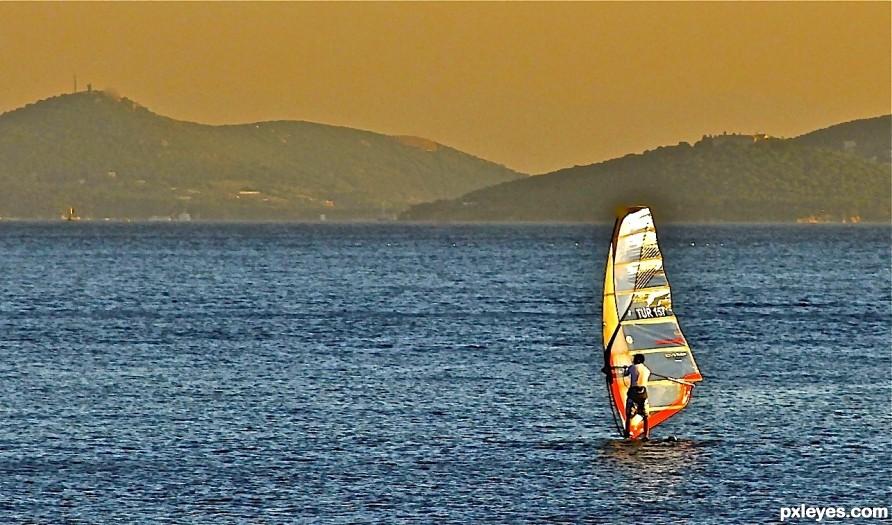 wind surfing on Marmara Sea