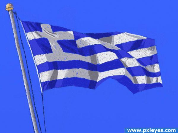 Creation of 28-Greek flag: Final Result