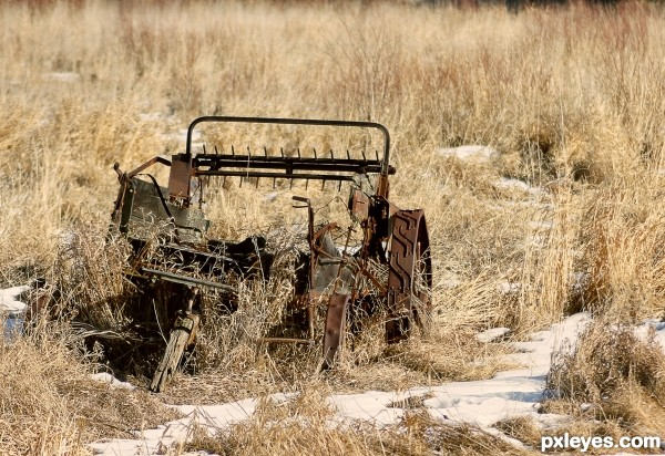 old hay stacker
