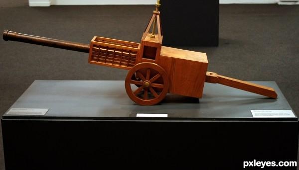 Canon designed by L. da Vinci