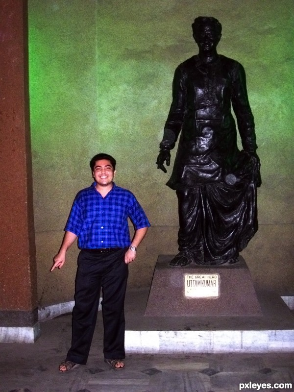 Posing Like Uttam Kumar