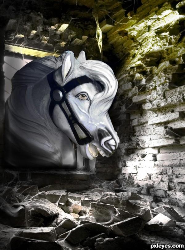 White Horse Rampant