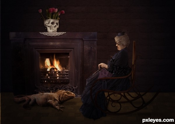 Portrait of gothic grandma